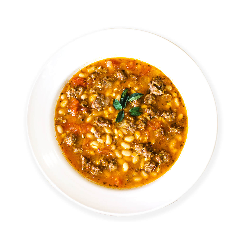 Bowl of Tuscan White Bean & Sausage Soup